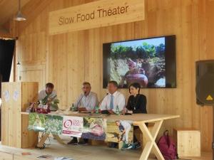 Il sindaco Berzero nell'area Slow Food