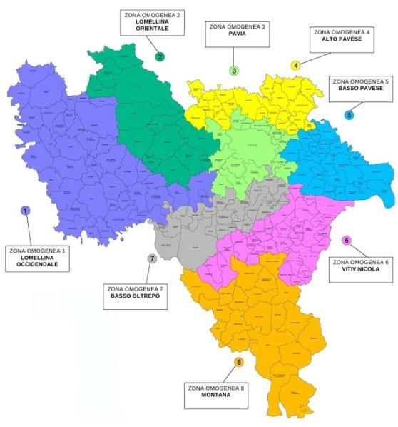 Comune Di Pavia Polizia Locale: Dai Circondari Alle Zone Omogenee